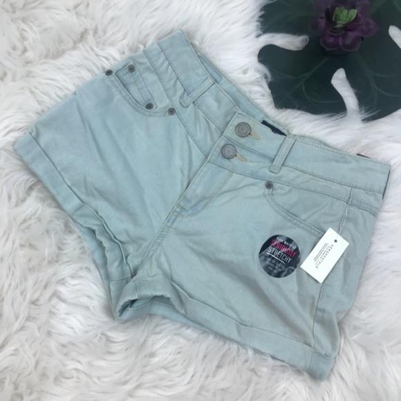 Aeropostale Pants - Aeropostale High Waist Shorts Stretch Shorty